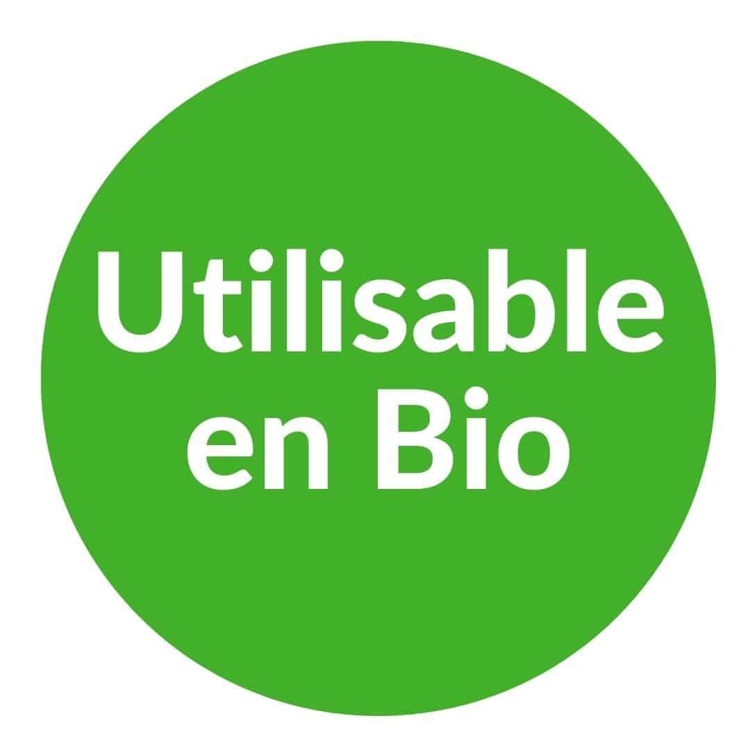 Utilisable en bio